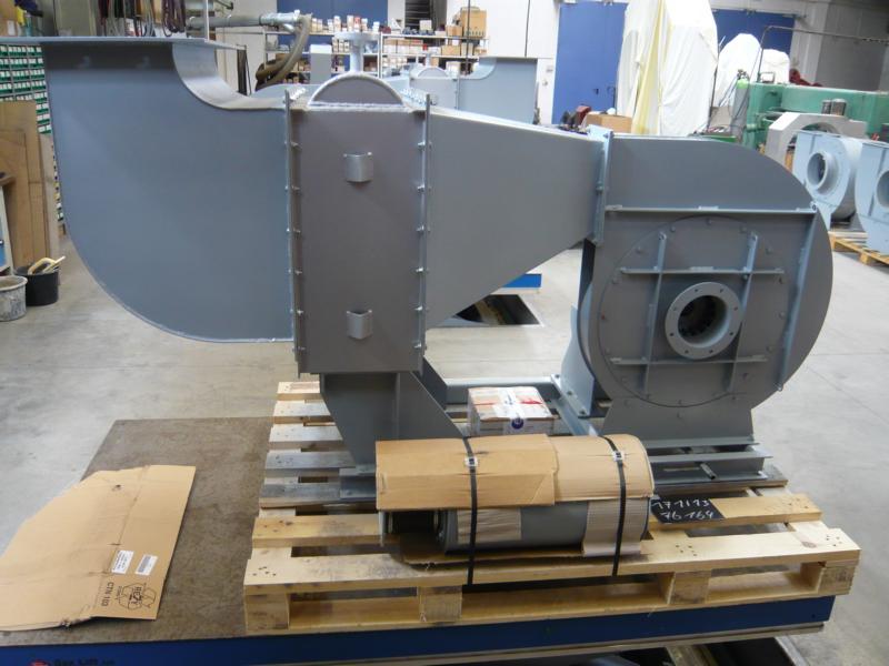 Radialventilator mit Dampfwärmetauscher
